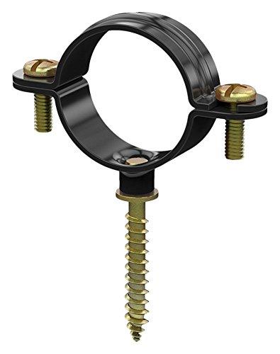 DESA 10600035 10600035-Abrazadera m6 plastica con tirafondo 35-Envase de 50 ud, Negro
