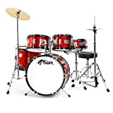 Tiger JDS14-RD Junior Kit de 5 Batteries Acoustiques - Rouge