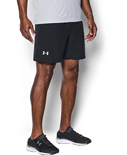 Under Armour Speed Stride 7in Woven Short Pantalones Cortos Deportivos, Hombre, Negro (Black), XL