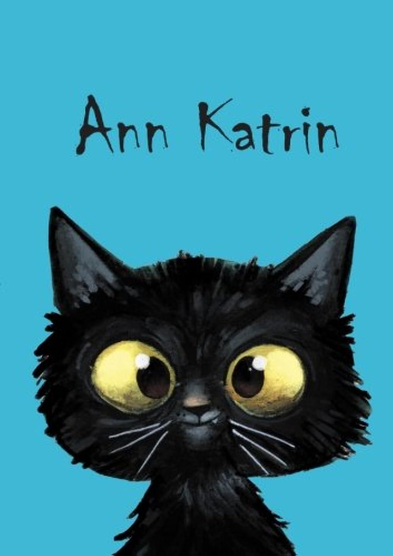 今操縦する粘り強いAnn Katrin: Ann Katrin - Katzen - Malbuch / Notizbuch / Tagebuch: A5 - blanko