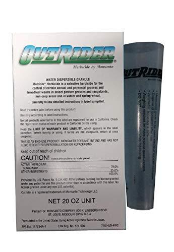 Monsanto Outrider Herbicide 20oz- Sulfosulfuron Johnsongrass...