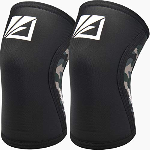 Elbow Sleeves (Pair),Support for Squat,Weightlifting,Powerlifting,Basketball and Tennis,5mm Neoprene Compression Brace for Both Women and Men (Large)