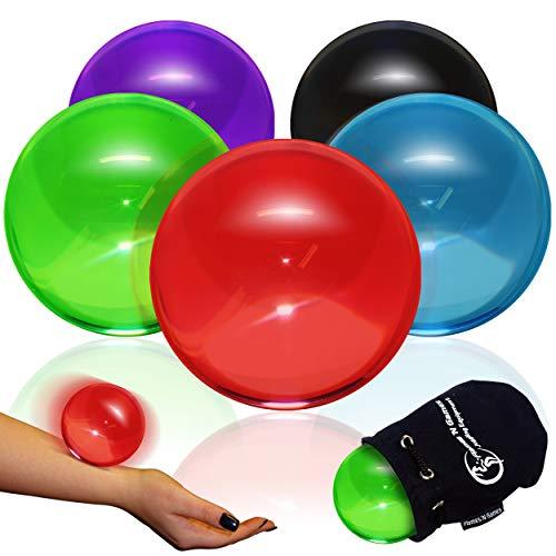 Flames N Games 75 mm Acrylfarbe Kontakt Ball + Wildledertasche - Profi Kontakt Bälle für alle Fähigkeiten. Erhältlich in 5 Farben !! (Lila)