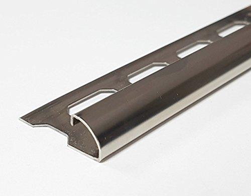 4 Schienen a) 2,50m = 10 lfdm. Edelstahlschiene V2A Rundprofil glänzend 10 mm Viertelkreis Fliesenschiene