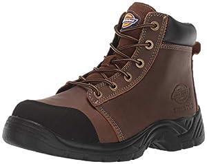 """Dickies Men's Wrecker 6"""" Steel Toe EH Industrial Boot, Brown, 10.5 Medium US"""