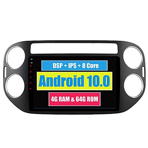 RoverOne 9 Pouces Système Android Octa Core pour Volkswagen Tiguan 2010 2011 2012 2013 2014 2015 Autoradio Système stéréo avec Radio Navigation GPS Bluetooth Mirror Link écran Tactile