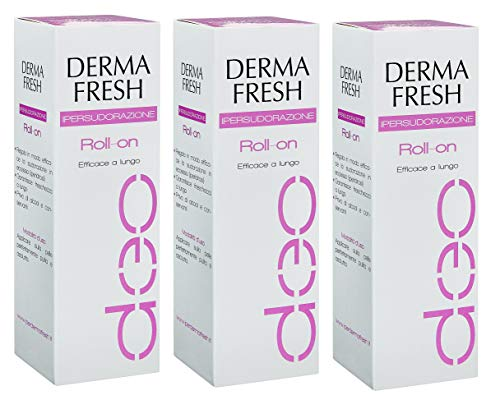 3X DERMAFRESH IPERSUDORAZIONE - Deodorante Roll On da 75ml - LUNGA DURATA