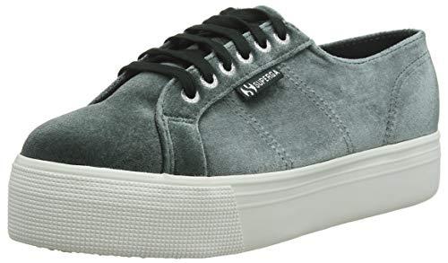 Superga Damen 2790-VELVETCHENILLEW Sneaker, Nero (Black L O Ch Ne Ss 405), 36 EU