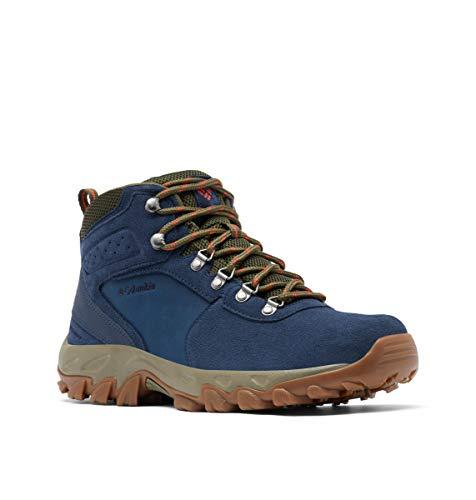Columbia Men's Newton Ridge Plus II Suede Waterproof Hiking Boot, Collegiate Navy/Peatmoss, 10.5