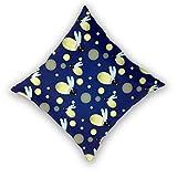 Housse de coussin imprimé 3D,Modèle de dessin animé mignon luciole bleue avec insectes lucioles,Taie d'oreiller moderne Décor à la maison 22'x 22'dans la taie d'oreiller Housses de coussin 2 pièces