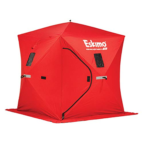 Eskimo Quickfish 69151 2 Pop-up Portable Ice Shelter, 2 Person , Red