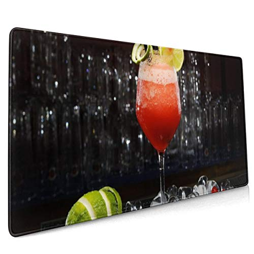 Rubberen basis Mousepad Daiquiri Fruit Cocktail IJs Drink Alcohol 15,7 x 35,4 Inch