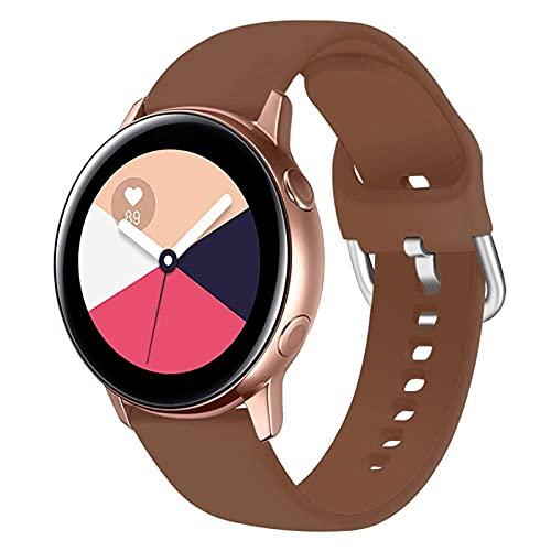 WWXFCA Correa de silicona para reloj Samsung Galaxy Watch 42 mm Active2 40/44 mm Soft Sport Watch Correa para reloj Samsung S2 Classic (color de la correa: 17, ancho de la correa: para Huawei Watch 2)
