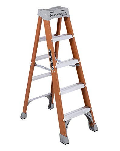 Louisville Ladder FS1505 Fiberglass Step Ladder, 5-Feet, 300-Pound Duty Rating