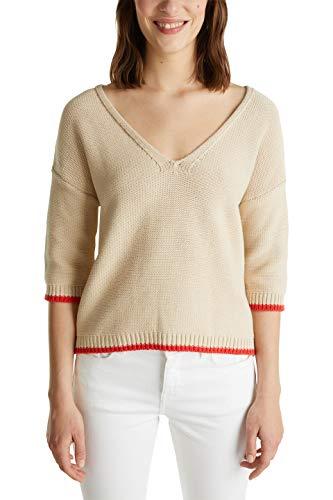 Esprit 040ee1i321 Suéter, 290/Light Beige, L para Mujer
