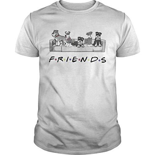 Schnauzer sit on Sofa Friends Shirt, Unisex Hoodie, Sweatshirt for Mens Womens Ladies Kids T-Shirts & Hemden(Medium)