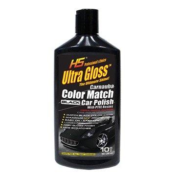 HS UltraGloss Carnauba Black Color Match Car Polish with PTFE results. The Professional Choice. 10 oz.