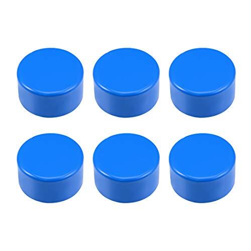 sourcing map - Tapa de tubo de PVC de 75 mm, tapas de extremo deslizante, DWV (drenaje de residuos), color azul