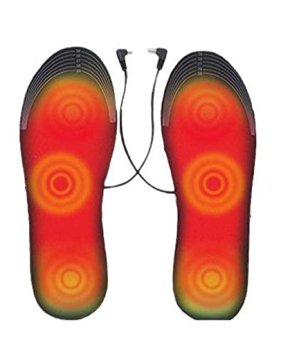 Y-PLAND Plantillas calefactoras con Enchufe USB, Plantillas calefactoras eléctricas, Plantillas calefactoras eléctricas, Plantillas Unisex de protección contra el frío en Invierno_M (41-46)