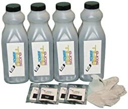 Toner Refill Store ™ 4 Pack Toner with reset chips for HP CF280A 80A LaserJet Pro 400 M425dn M401dw M401dn M401n