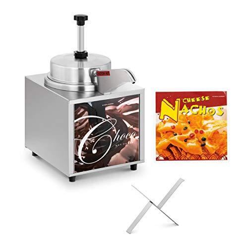 Royal Catering Dispensador De Salsas Calientes Dosificador Para Queso RCKW-1.0 (6 niveles de temperatura: 35-99 °C, Para queso y chocolate, Envase de 4,5 L)
