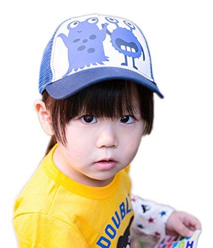 Bigood Casquette Maille Enfant Garçon Fille Coton Chapeau de Baseball Sport Eté Respirant Tour Tête 44-46cm