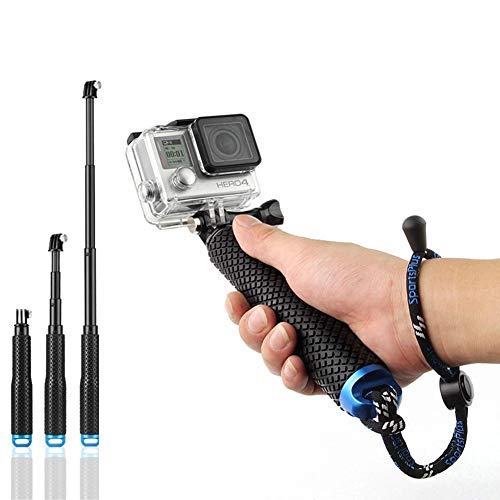 Huiiv cm Selfie Perch Waterproof Action Camera Monopod Extendable Stick Telescopic Selfie Stick for SJCAM/Garmin Virb XE/Yi 4K/DBPOWER QUMOX/Akaso/Apeman etc
