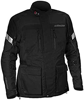 Castle Distance Mens Motorcycle Jacket - Black - 4XL