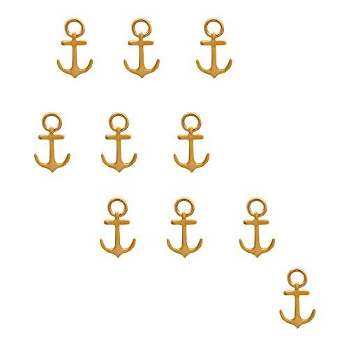 Shine Jewel Pendentif en argent sterling 925 avec 10 pièces d'ancrage, plaqué jaune pour femme Jaune