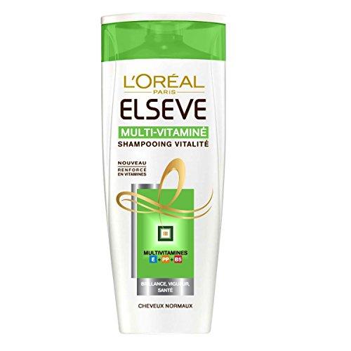 L'Oréal Paris Elsève - Shampooing - 250 ml - Multivitam - Lot de 2