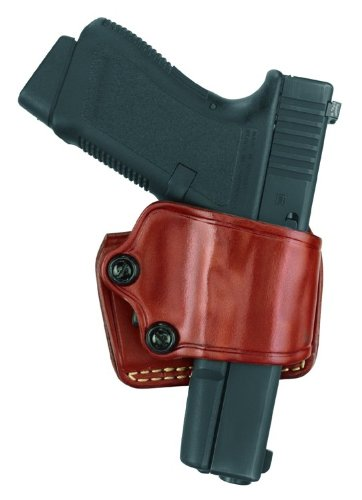 """Gould & Goodrich 801-195LH Gold Line Yaqui Slide Holster - Left hand (Chestnut Brown) Fits most 1911-type pistols with 3"""" to 5"""" bbl incl. COLT Defender, Officer's, Commander, Gold Cup, Gov't; KIMBER Compact, Custom, Pro, Ultra, Polymer .45; PARA-ORDNANCE (all); SPRINGFIELD 1911 (all); WILSON CQB 1911 (all); BROWNING HP; KAHR K9, P9, K40 (a"""
