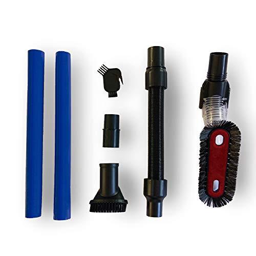 SAMBA Kit Accesorios Aspirador Inalámbrico para Aspiradoras Escoba Aspira Pro, Cepillo Suave, Manguera Extensible, Tubo Extensible, Cepillo Suciedad difícil, Accesorio Mantenimiento y Adaptador