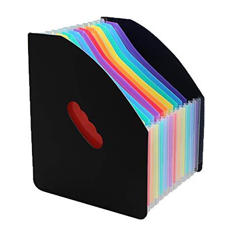 CHULAI 13 Pockets Expanding File Folder Accordion File Organizer Plastic...