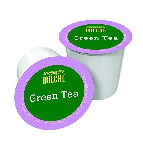 Grüne Teeblätter in Keurig K-Cups Kompatible Kapseln, 5 Gramm, Box 60 Pods, von Dolché