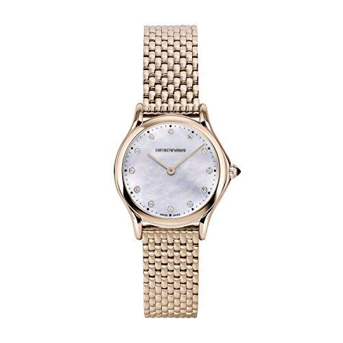 Emporio Armani - Reloj Tradicional de Cuarzo de Acero Inoxidable para Mujer de fabricación Suiza ARS7509