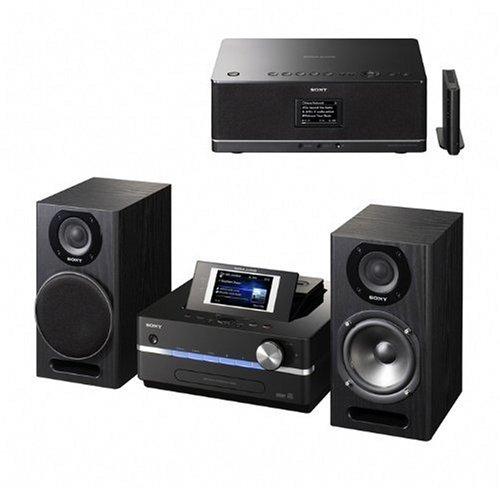 Sony NAS SC 500PK Servidor de música con Disco Duro de 160GB (W-LAN, sintonizador FM/Am, DLNA, Walkman Puerto/DM, USB) Negro