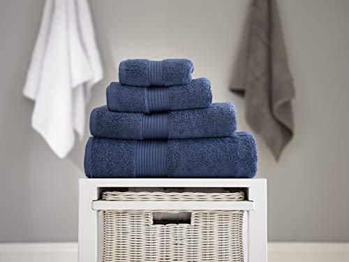 Deyongs 1846 Bliss Pima - Toalla de algodón, algodón, Azul Vaquero, Bath Towel 70 x 130cm