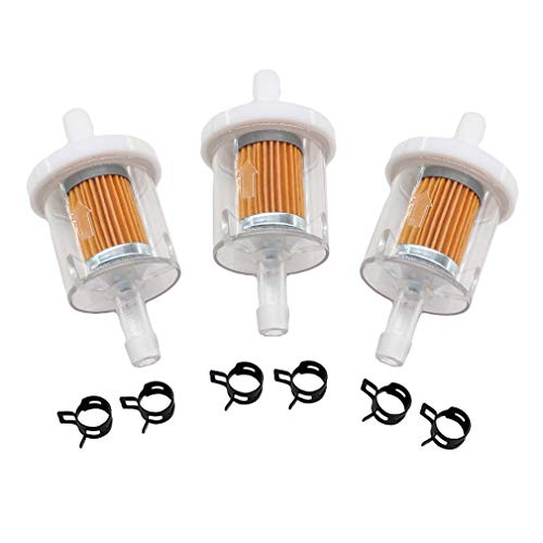 AISEN Kraftstofffilter Benzinfilter passend für Aufsitzmäher Rasentraktor Motoren Briggs & Stratton 493629 691035 AM108356 Tecumseh 34279 A