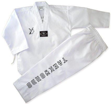DOUBLE Y ELEGANCE - Dobok de taekwondo blanco blanco Talla:200