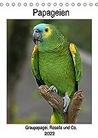 Papageien - Graupapagei, Rosella und Co. (Tischkalender 2022 DIN A5 hoch): Gefluegelte Vielfalt (Planer, 14 Seiten )