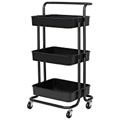 Heavy Duty: The 3-Tier Utility Rolling Cart is made of high quality metal frame and heavy duty ABS material storage baskets which is lightweight,durable, anti-corrosion, waterproof, scratch-resistant. Thick metal frame makes it sturdy enough to hold ...