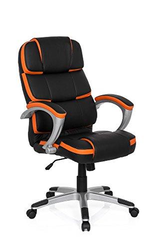MyBuero Sedia Poltrona Presidenziale Gaming Pro By 100 Ecopelle Nero Arancione 722120