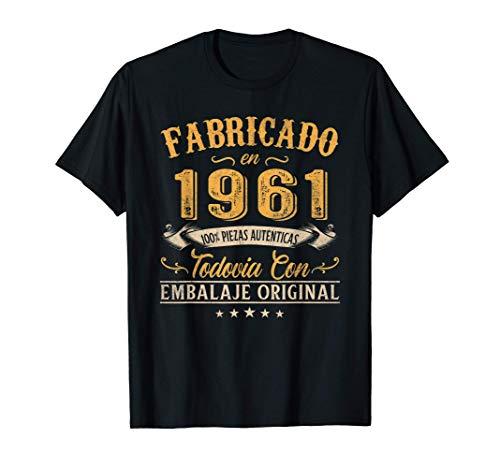 Fabricado En 1961 Regalo Para Hombre 60 Años Cumpleaños Camiseta