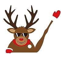 クリスマスカーリムーバブルステッカー反射防水リアウィンドウワイパーホラー手を振るデカール3D漫画お祭り車ワイパー装飾ワイパーアドバンテージデカールサンタスノーマン