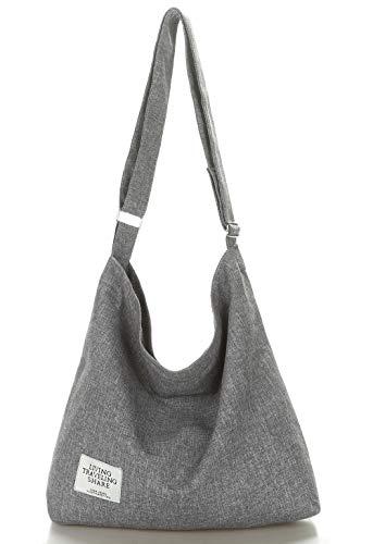 Amazon.com | Covelin Women's Retro Large Size Canvas Shoulder Bag Hobo Crossbody Handbag Casual Tote Army Green
