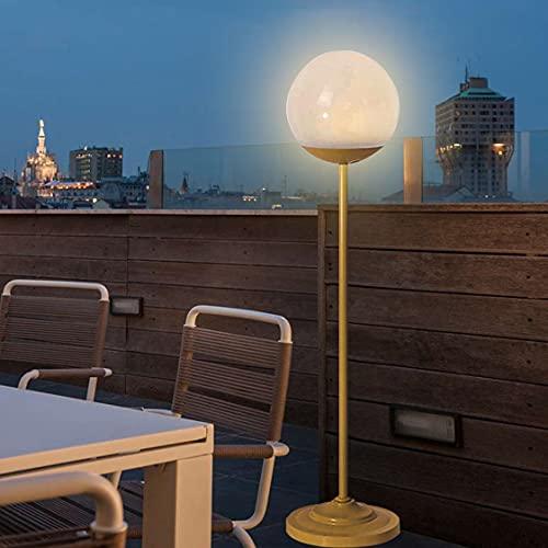 HMAKGG Exterior LED Lampara De Pie Sin Cable 10000mAh Recargable, IP65 Impermeable LED Lámpara De Pie Interior Regulable Con Interruptor Tactil para Dormitorio, Jardín, Restaurante, Bar,87.5cm