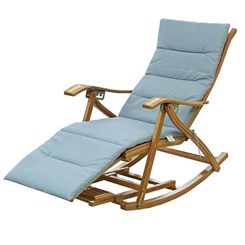 SM8 Schaukelstuhl Loungesessel Erwachsene Aus Bambus Fauler Balkon Schaukel Nickerchenstuhl Alter Mann Freizeit Faltbar