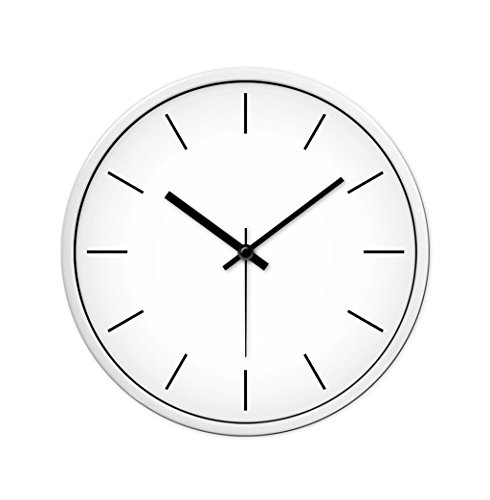 LiuJF No Number Puur Witte Wandklok, 30-35CM Home Slaapkamer Studie briefpapier Winkel Wandklok Praktisch en Precisie
