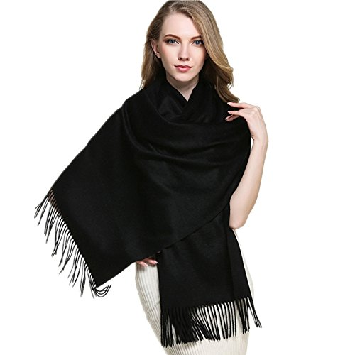Saferin Extra Large 78' X 28' Women and Men Thick Solid Cashmere Wool Pashmina Wrap Shawl Scarf...