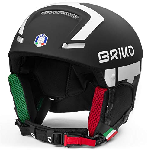 Briko - Faito Fisi - Taille M/L (56-58 cm) - Casque ski adulte - 2001JX0 - Noir mat/blanc mat
